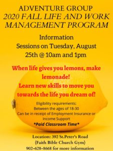 Aug. 25, 2020: Life and Work Management Program